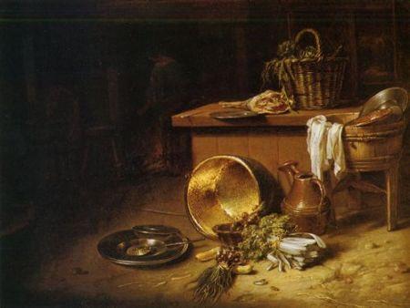 Küche im 17. Jahrhundert